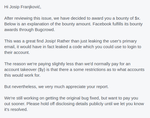 Facebook bounty explanation